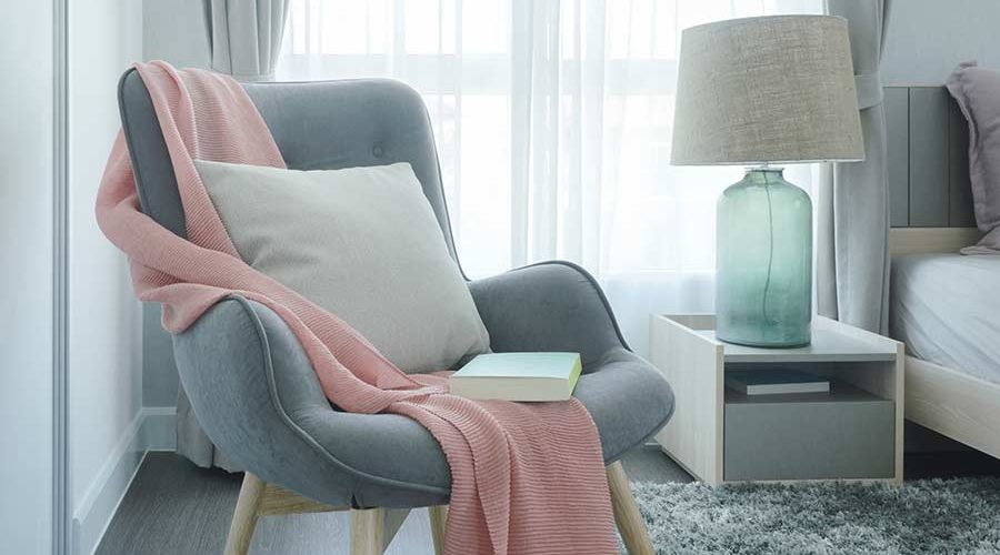 bigstock-Gray-Easy-Armchair-With-Pink-S-189392677